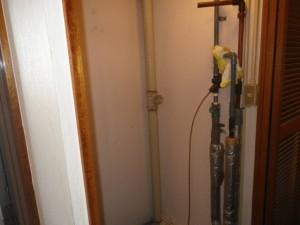 電気温水器取替え工事 施工事例 名古屋市西区 施工前