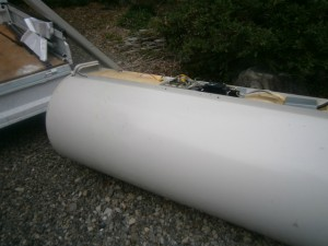 電気温水器取替工事 撤去後