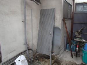 三菱電機温水器取替工事(名古屋市南区)撤去後